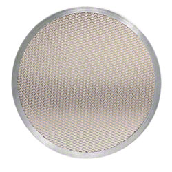 "American Metalcraft Round Aluminum Pizza Screen - 16"" OD"
