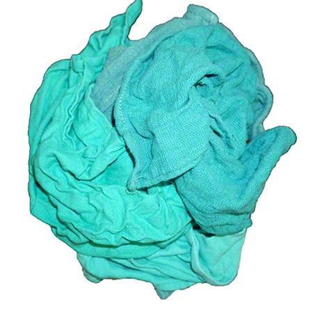 Green Hemmed Huck Towel Rag - 25 lb.