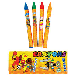 Berkley Square Standard 4 Pack of 90mm Crayons