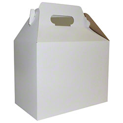 BOXit White Colored Pinstriped Gable Box