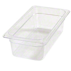 Carlisle StorPlus™ Food Pan-One Third Size, 3.8 Qt, Clear