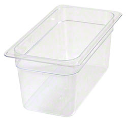 Carlisle StorPlus™ Food Pan-One Third Size, 5.7 Qt, Clear