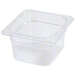 Carlisle StorPlus™ Food Pan-One Sixth Size, 1.7 Qt, Clear