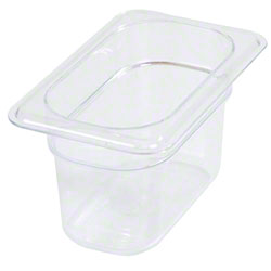Carlisle StorPlus™ Food Pan-One Ninth Size, 1 Qt, Clear