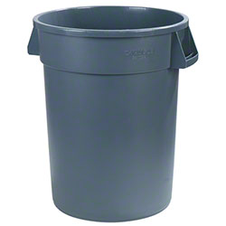 Carlisle Bronco™ Round Waste Container - 32 Gal., Grey