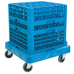 Carlisle Warewashing Rack Dolly - Blue
