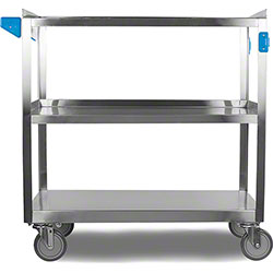 Carlisle 3 Shelf Stainless Steel Utility Cart - 500 lb.