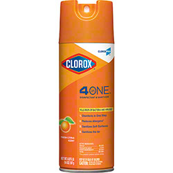 CloroxPro™ Clorox® 4 in One Disinfectant & Sanitizer - 14 oz., Citrus