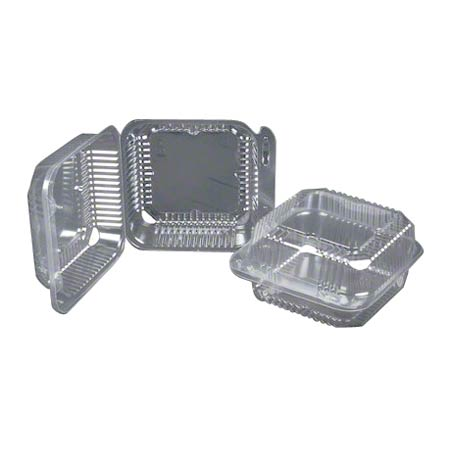 """Durable Duralock Hinged Lid Container - 6"""", Large"""