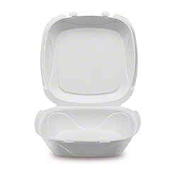 """Darnel Ivory Pulp Hinged Container - 9.25"""" x 9.25"""" x 3"""""""