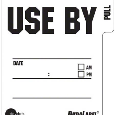 "Ecolab® DuraLabel ""Use By"" Label"