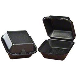 Genpak® Large Snap-It™ Sandwich Container - Black
