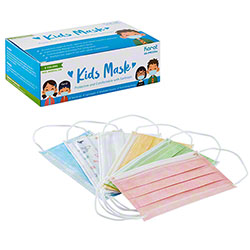 Karat® 3-Ply Kids Face Mask w/Elastic Ear Loops - Mixed Colors
