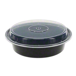 NEWSPRING® VERSAtainer® Black Round Container - 24 oz.