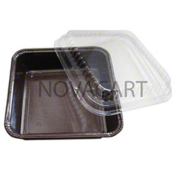 "Novacart® Ecos Square Ovenable Baking Mold - 4"" x 4"""