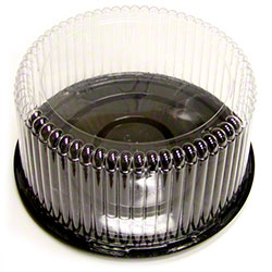 "Pactiv APET 7"" Round Cake Packaging Combo - 5"" Fluted Dome"