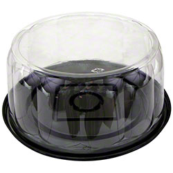 """Pactiv RoseDome™ Black Base Cake Combo w/5.75"""" Dome"""