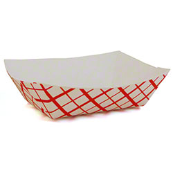 Southern Champion Southland® Food Tray - #100 Red, 1 lb.