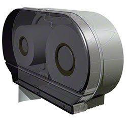 "Palmer Twin 9"" Jumbo Tissue Dispenser - Transparent"