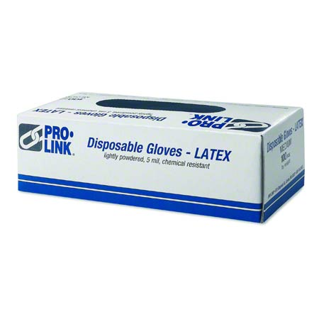 Latex Disposable Glove - Medium, Clear