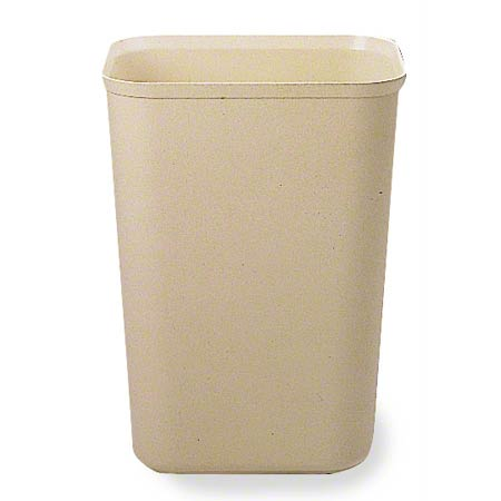 PRO-LINK® Fire-Resistant Wastebasket - 14 Qt., Light Beige