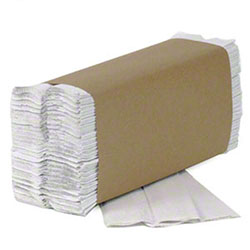 New Generation White C-Fold Towel - 10 x 11.5
