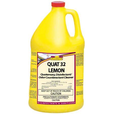 Simoniz® Quat 32 Lemon Disinfectant & Odor Counteractant