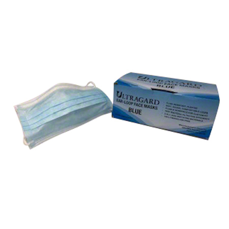 General Use 3 Ply Blue Mask - One Size Fits All