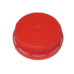 """All American Containers 38 mm """"Screw-On"""" Lined Red Lid"""
