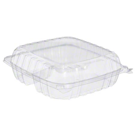 Dart® ClearSeal® Clear Hinged Lid Container -LG, 3 Cmpt