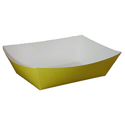 SQP Solid Color Food Tray - #300 Yellow