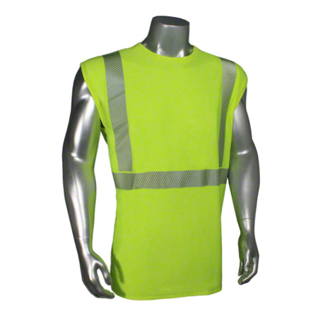 Radwear® USA Ultra Breezelite™ ll Safety T-Shirt - Large, Hi Viz Lime