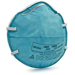 3M™ Health Care Particulate Respirator & Surgical Mask 1860, N95