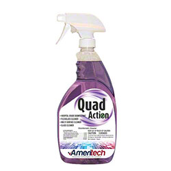 Ameritech Quad Action Disinfecting Glass, Plexiglass & Multi-Surface Cleaner - 32 oz.