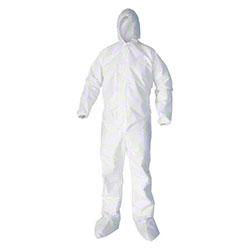 Wel Microporous Coverall w/Hood & Zipper Front - XL