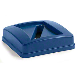 Carlisle Centurian™ Square Recycle Container Lid w/Slotted Top - Blue