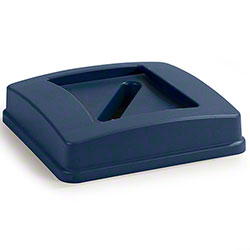 Carlisle Centurian™ Square Recycle Container Lid w/Paper Slot Top - Blue