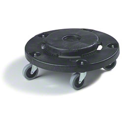 Carlisle Flo-Pac® Round Container Dolly  - Black