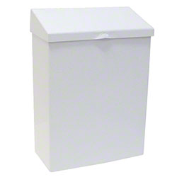 HOSPECO® Metal Waste Receptacle - White