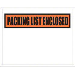 Laddawn® Packing List Envelope - 7 x 5.5, Clear w/Print