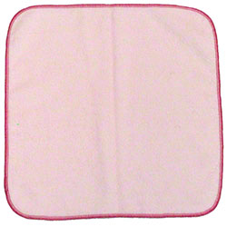 "Microfiber & More 12"" x 12"" Microfiber Cloth - Red"