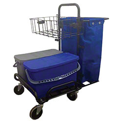 Microfiber & More Metal Cart On Casters w/Buckets