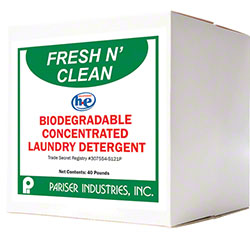 Pariser Fresh N' Clean Laundry Powdered Detergent - 40 lb.