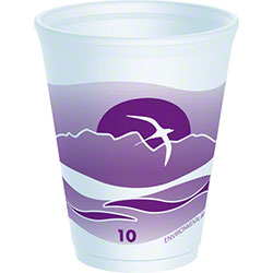 Dart® Horizon® LX® Foam Cup - 10 oz., Plum