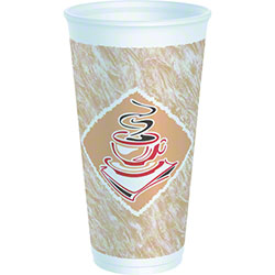 Dart® Café G™ Thermo-Glaze Foam Cup - 20 oz., Red