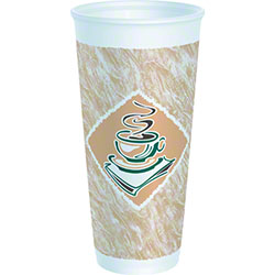 Dart® Café G™ Thermo-Glaze Foam Cup - 24 oz., Green