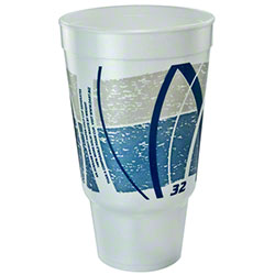 Dart® Impulse® Foam Cups - 32 oz. Flush Fill