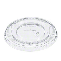 Dart® Clear Lid w/Straw Slot