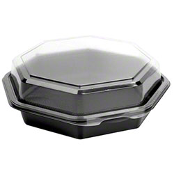 "Dart® Creative Carryouts® OctaView® PS Hinged Lid Container - 7.5"" Deep"