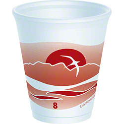 Dart® Horizon® LX® Foam Cup - 8  oz. Dark Red